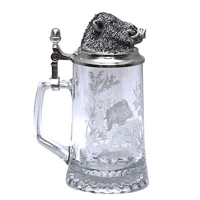 Пивная кружка с крышкой «Кабан»