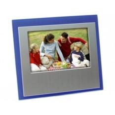 Серебристо-синяя рамка для фотографии 10х15 см