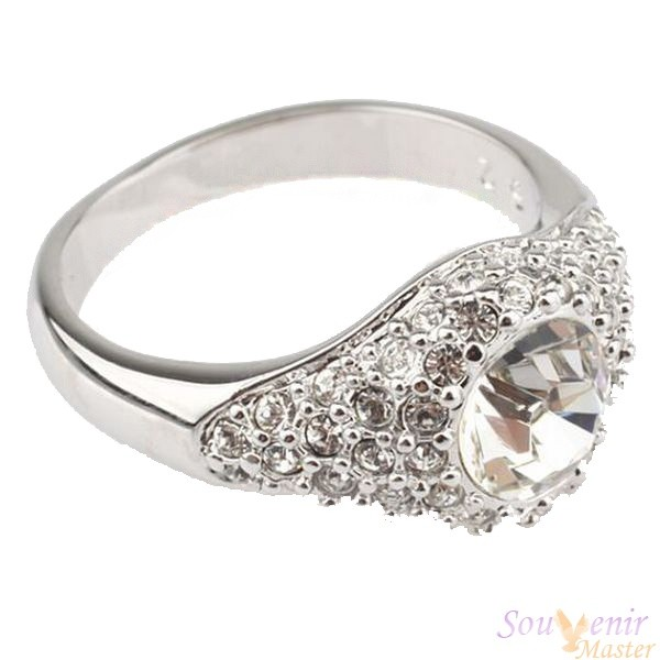 Кольцо с кристаллами Swarovski Анжелина