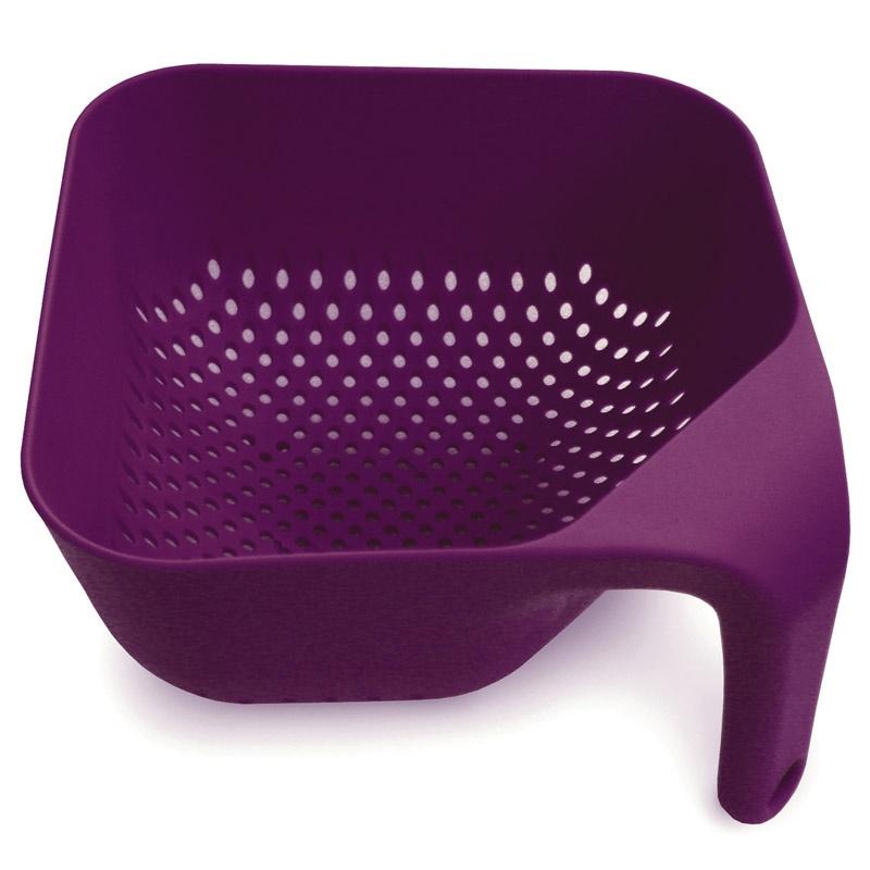 Дуршлаг, квадратный, малый, фиолетовый