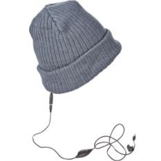 Серая шапка со встроенными наушниками NOWшанка