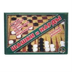 Набор настольных игр Шашки и нарды (большие)