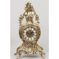 Часы с цветами из бронзы
