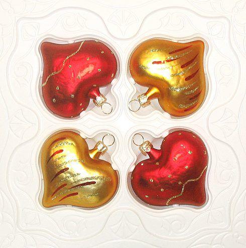 Набор елочных фигурок «Сердечки»