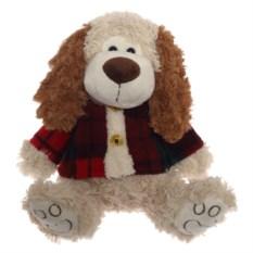 Бежево-коричневая мягкая игрушка Собака (29 см)