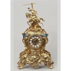 Часы из бронзы Всадник, цвет золотой