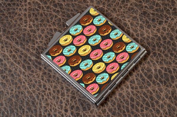Карманное зеркальце Пончики (белый)