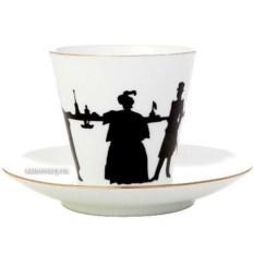 Кофейная чашка с блюдцем Прогулка