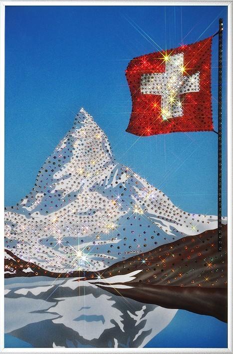 Картина с кристаллами Swarovski Гора в Альпах – Маттерхорн