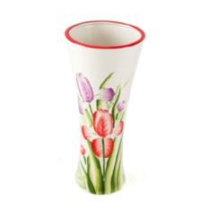 Керамическая ваза Сиреневый тюльпан