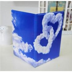 Обложка на паспорт Сердца из облаков