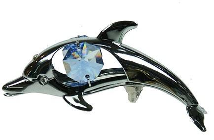 Декоративная фигурка Swarovski Дельфин на присоске