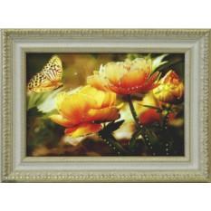 Картина с кристаллами Swarovski Оранжевые кувшинки
