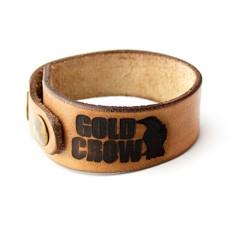 Кожаный мужской браслет Gold Crow GD005BE