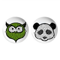 Тарелки Animals Owl and Panda