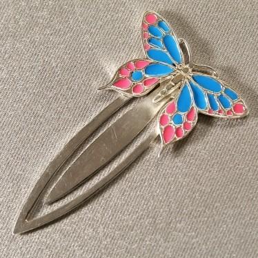Серебряная закладка «Бабочка»
