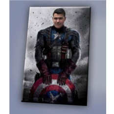 Портрет на холсте по фото Капитан Америка