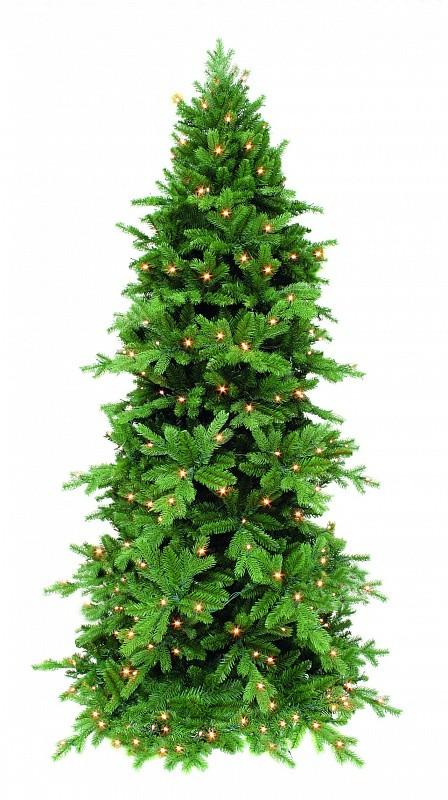 Сосна Триумф Изумрудная, зеленая, с лампочками (360 см)