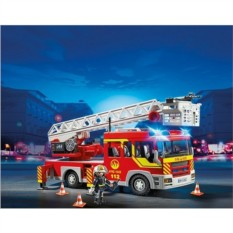 Конструктор Пожарная машина с лестницей со светом и звуком