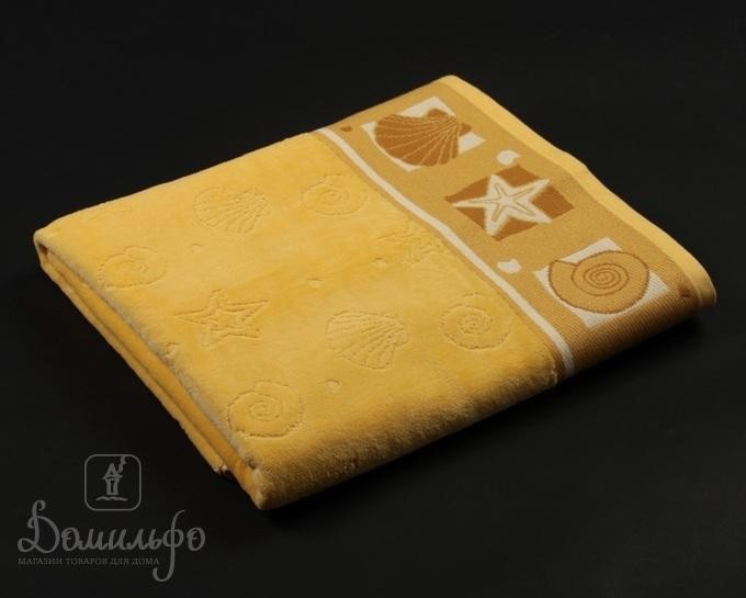 Полотенце Таск Шелл, желтое, 70х140