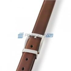 Классический коричневый ремень из матовой кожи