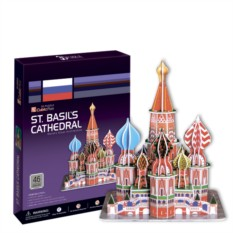 3D пазл Cubic Fun Собор Василия Блаженного (Москва)