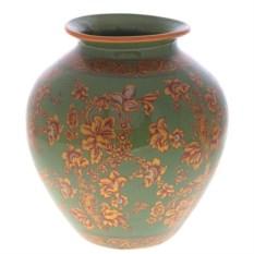Фарфоровая ваза для цветов (цвет: зеленый, высота 28 см)