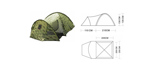 Палатка трехместная Canadian Camper FISH