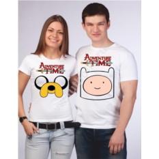 Парные футболки для двоих Время приключений