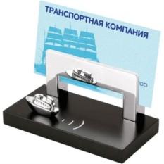 Подставка под визитки с кораблем