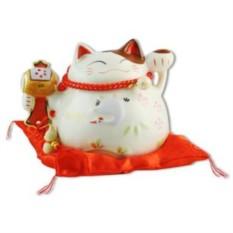 Копилка Белый японский кот Манеки-неко