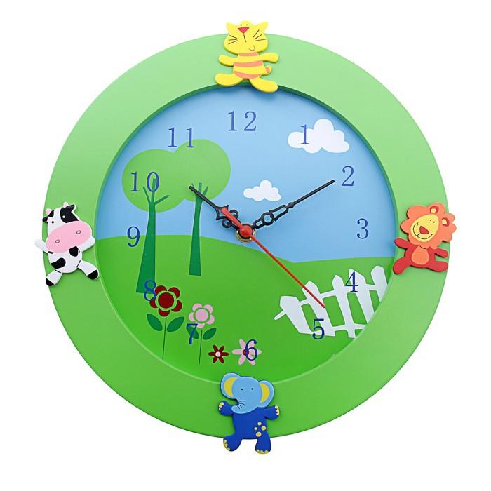 Детские настенные часы Животные