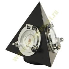 Настольные часы Пирамида, с термометром и гигрометром