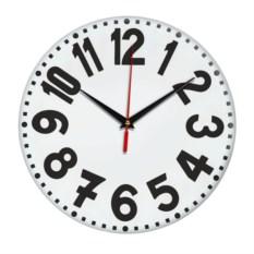 Настенные часы с жирными цифрами