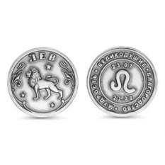 Сувенирная серебряная монета Лев