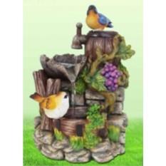 Фонтан Лесные птички на камнях, увитых виноградом