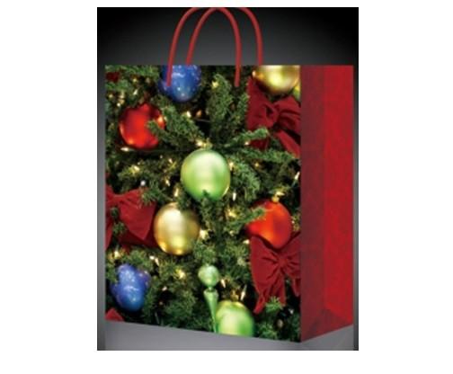 Вместительный подарочный новогодний пакет