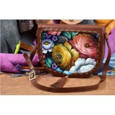Сумка-седло с принтом Цветы Хохломы Elole Design