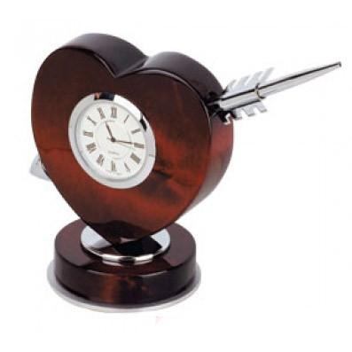 Письменный прибор-часы «Сердце со стрелой»