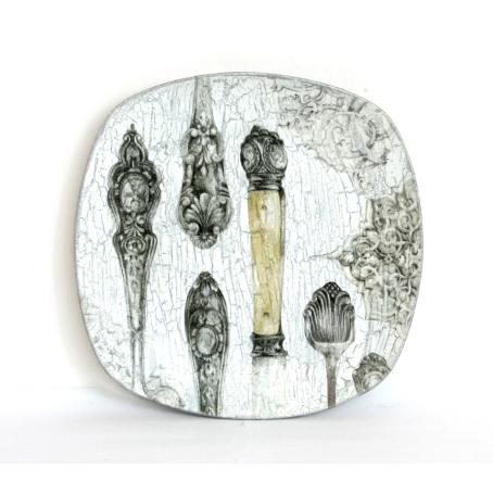 Декоративная тарелка «Столовое серебро»