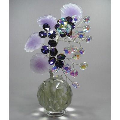Бонсай на прозр.шаре лиловый (16 см.)