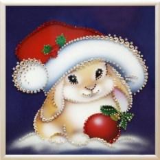 Картина Swarovski Новогодний зайка