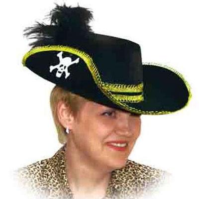 Шляпа Пиратская с пером