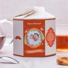Чайный набор Для любимого папы 2 с вашим фото