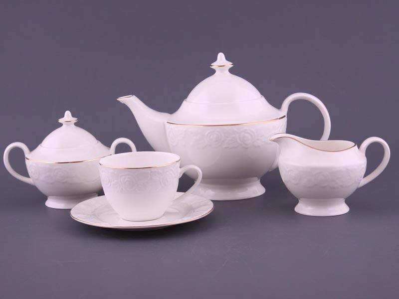 Чайный сервиз на 6 персон,15 предм. роузи