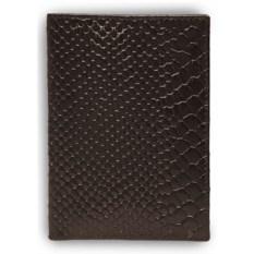Кожаная коричневая обложка для автодокументов
