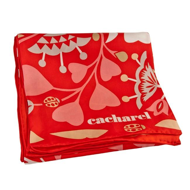 Платок шелковый Cacharel, красный