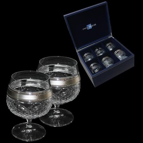 Набор бокалов для коньяка Серебряная линия