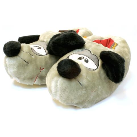 Тёплые тапочки-игрушки «Серый Мышь»