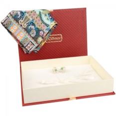 Подарочный набор: платок и серьги